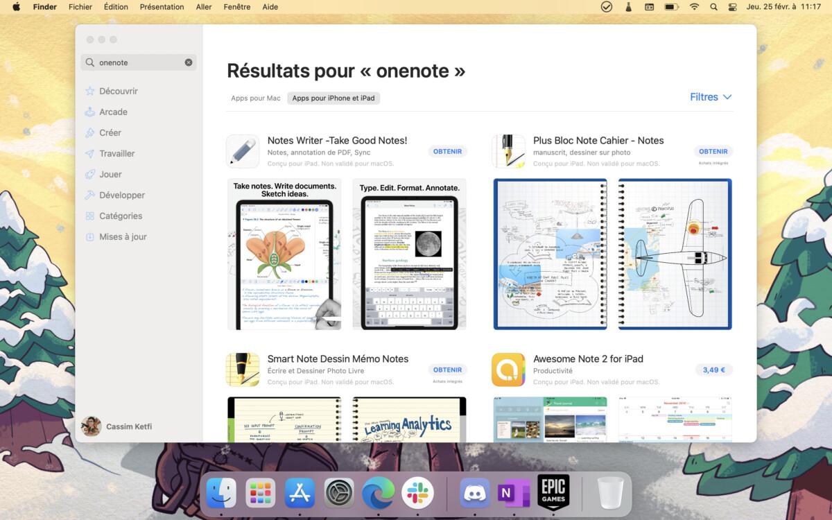 L'App Store ne trouve pas l'application Microsoft OneNote en version iOS