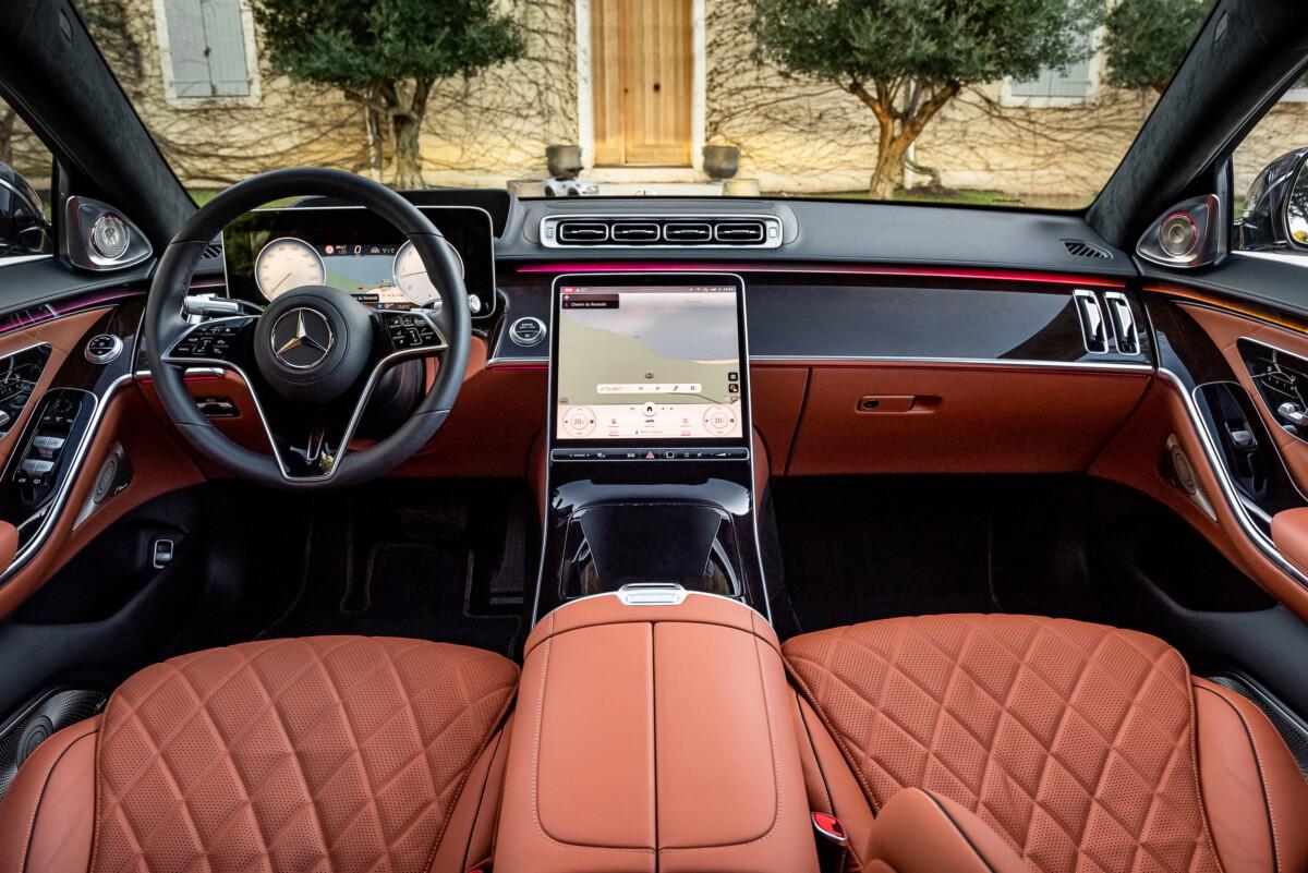 L'habitacle de la Mercedes Classe S