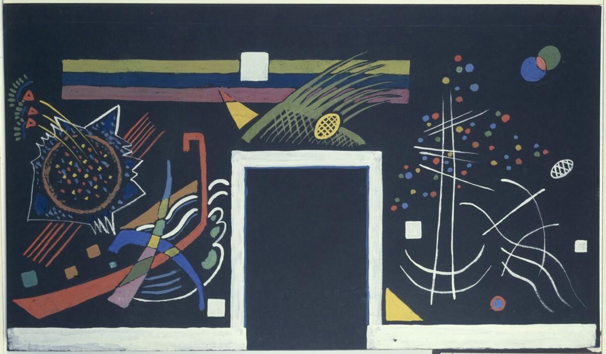 L'œuvre «Mur B» de Kandinsky (1922)