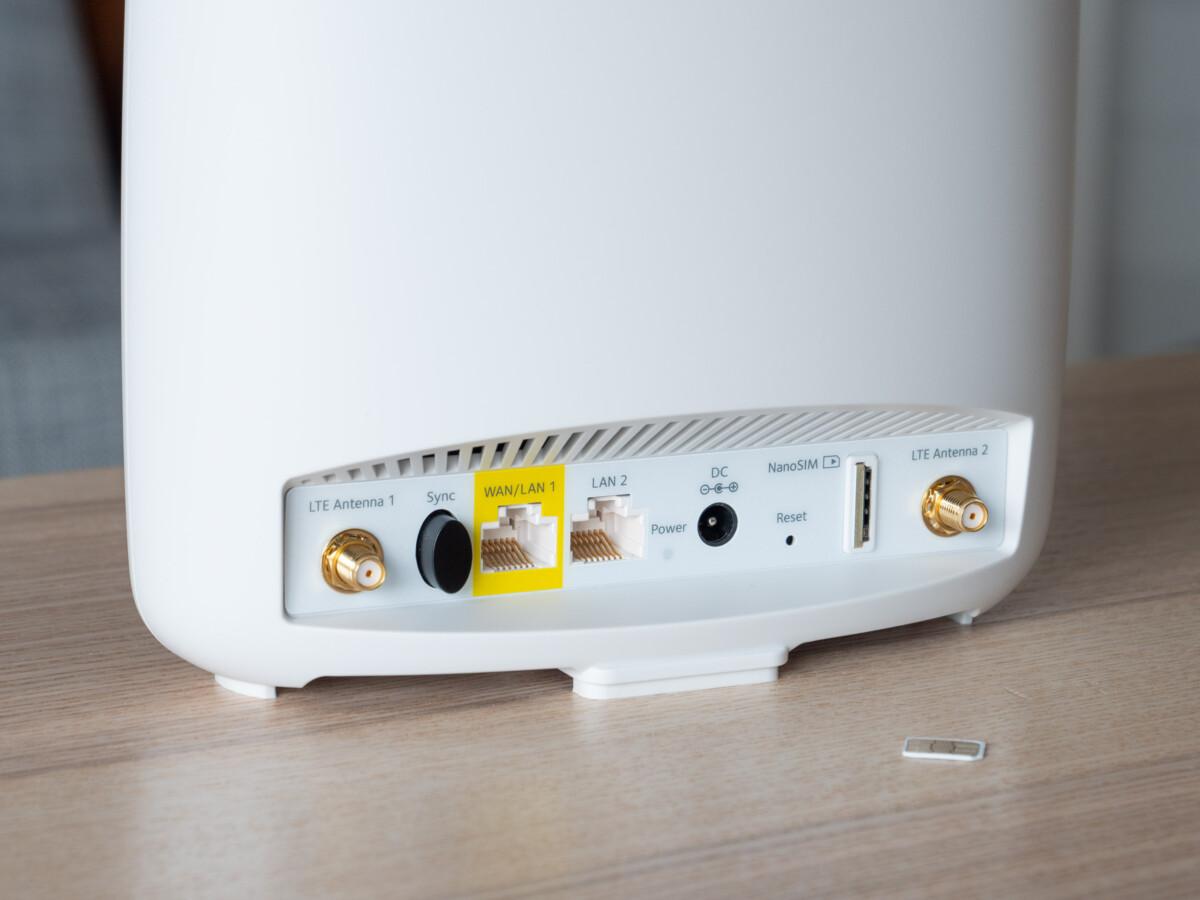 Contrairement à certains routeurs Wi-Fi, le Netgear Orbi 4G n'est pas alimenté par USB-C.
