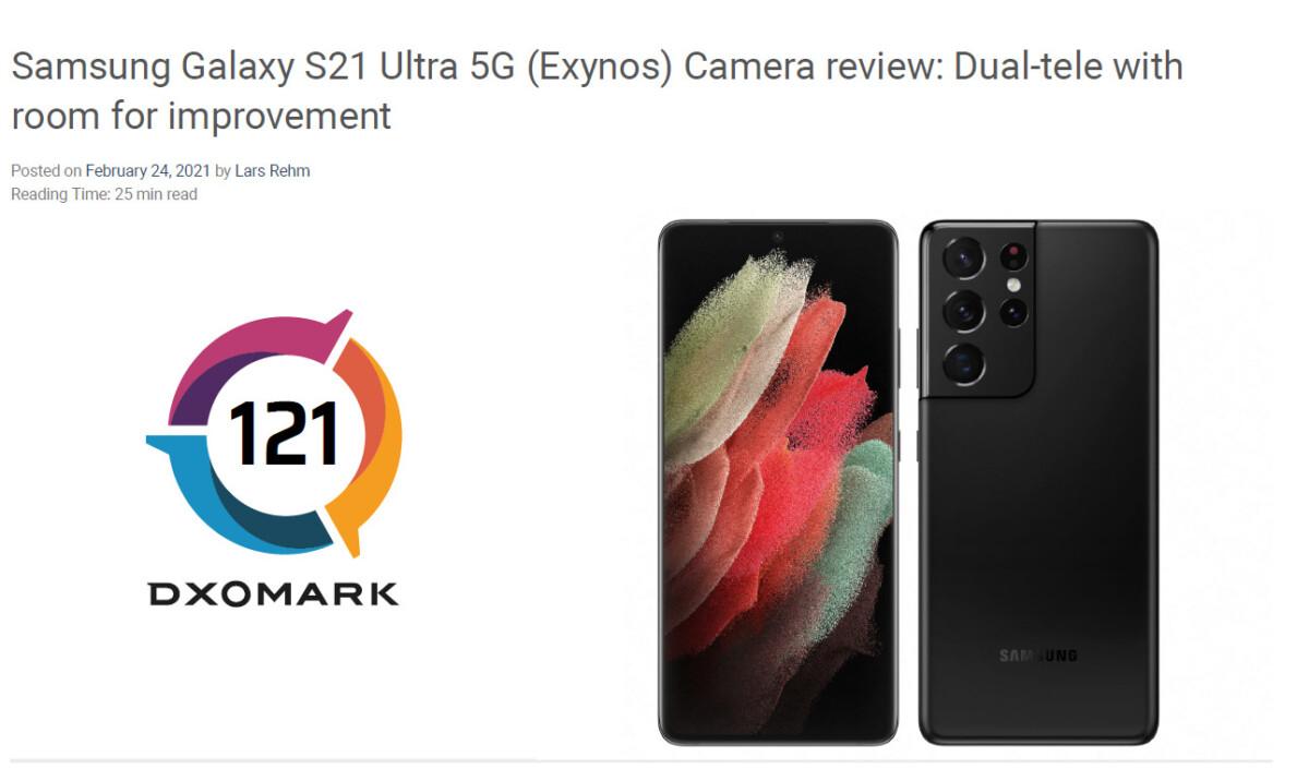 Note du Galaxy S21 Ultra sur DxOMark