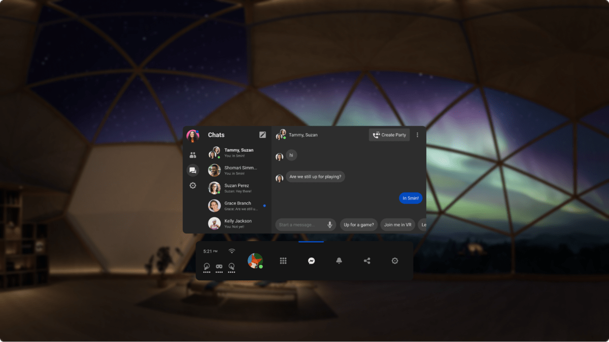 Facebook Messenger arrive sur Oculus Quest