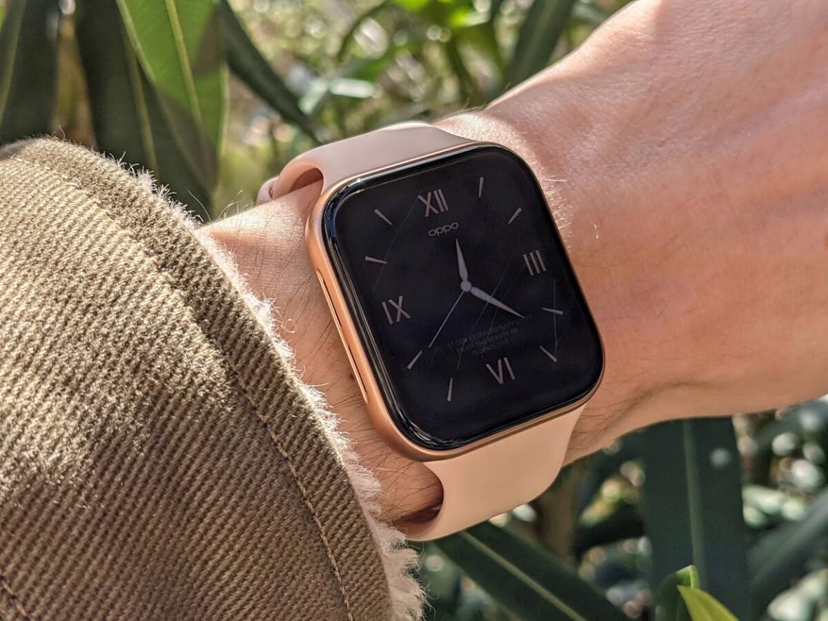 L'Oppo Watch boîtier rose 41mm