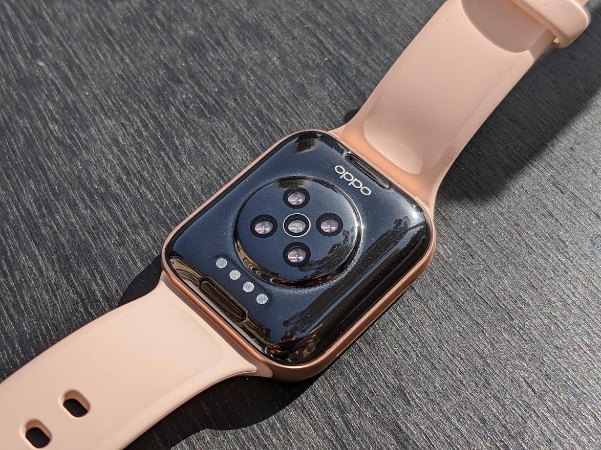 Le capteur de fréquence cardiaque de l'Oppo Watch