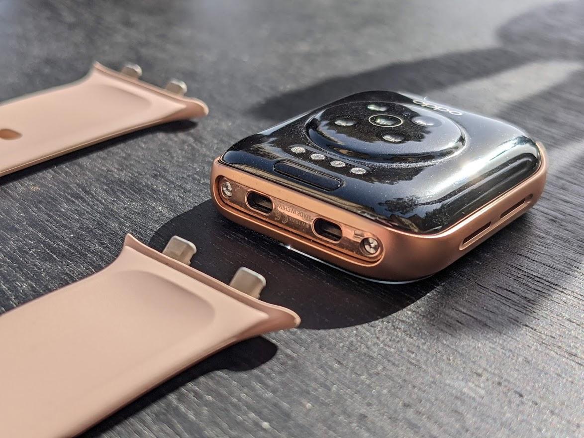 Le système d'accroche de l'Oppo Watch est très pratique