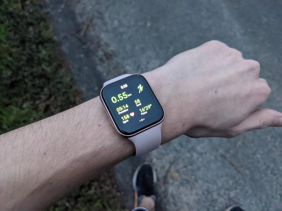 L'Oppo Watch en pleine session running