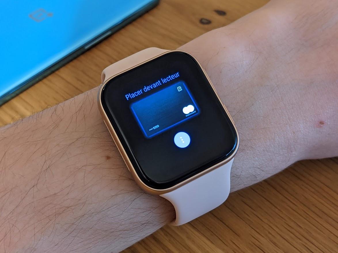 L'Oppo Watch fait office de moyen de paiement avec Google Pay