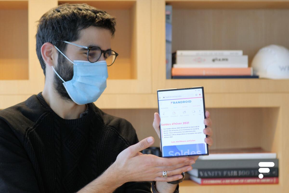 L'Oppo X 2021 au format tablette