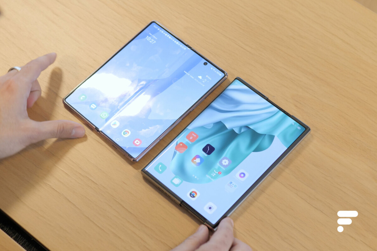 L'Oppo X 2021 et le Samsung Galaxy Z Fold 2