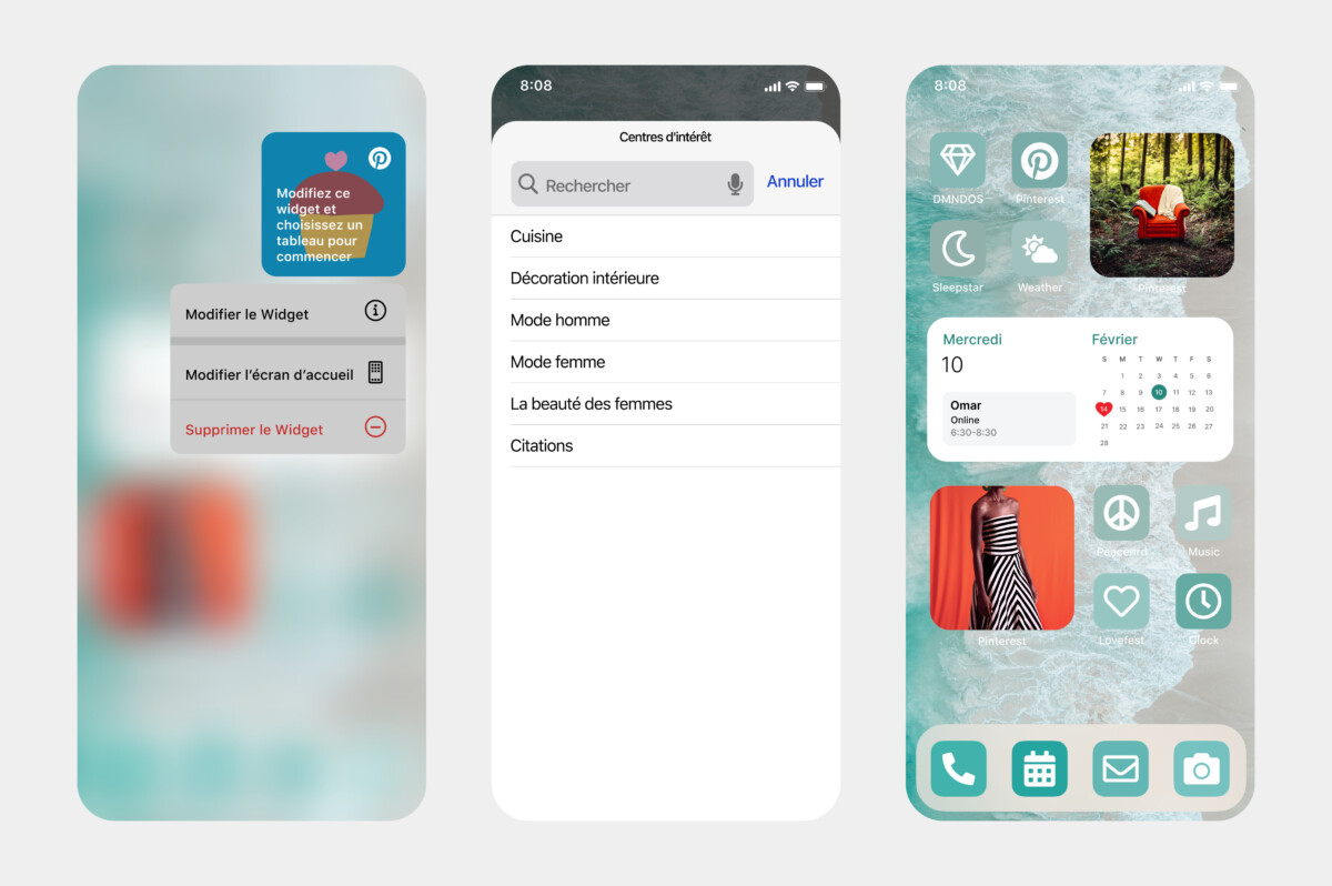 Interests is a Pinterest widget for iOS 14