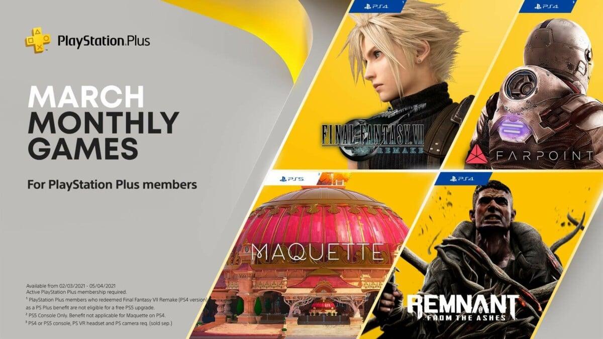 PS Plus : Final Fantasy VII Remake est gratuit en mars, mais il y a un hic