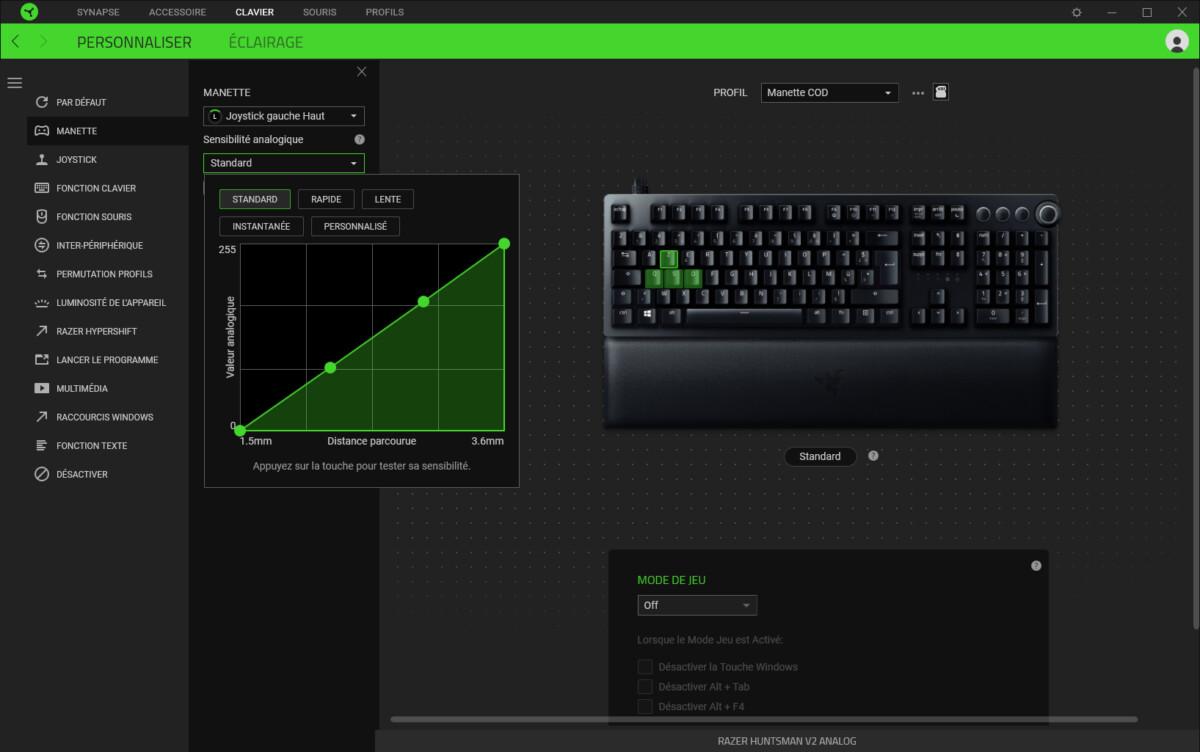 Réglage des interrupteurs analogique du Razer Huntsman V2 Analog
