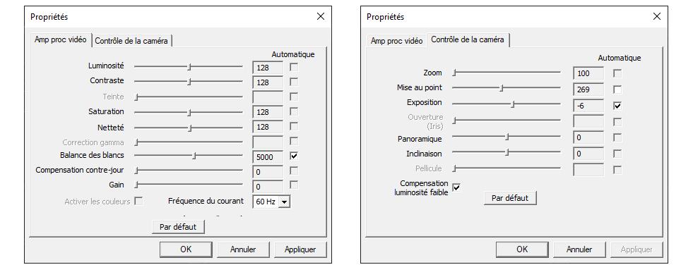 Les paramètres de réglages avancés de la Razer Kiyo Pro