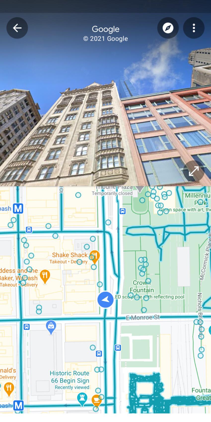 Google Maps Street View amélioré