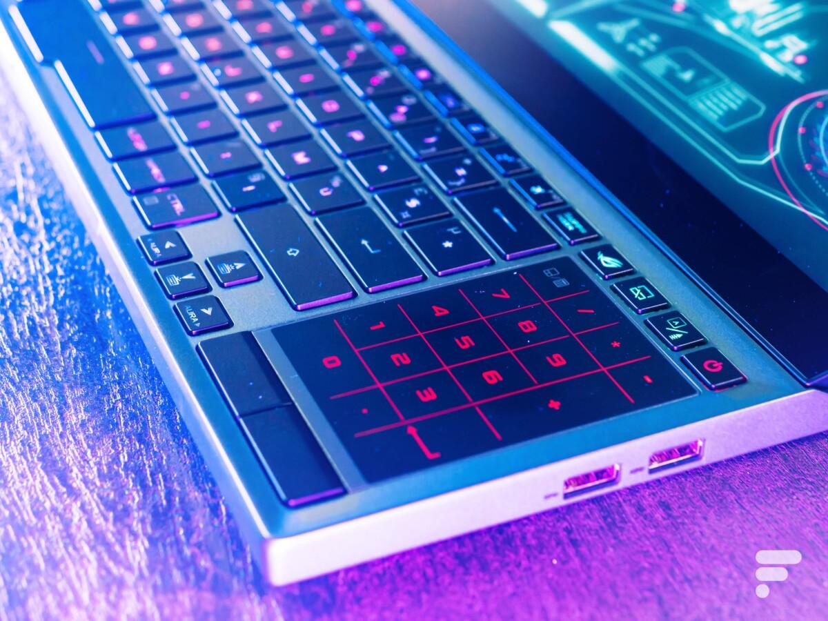 Le pad tactile se transforme en clavier numérique