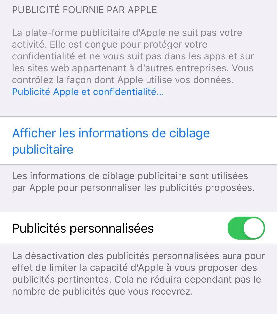 Comment bloquer les publicités ciblées d'Apple sur iPhone en trois clics