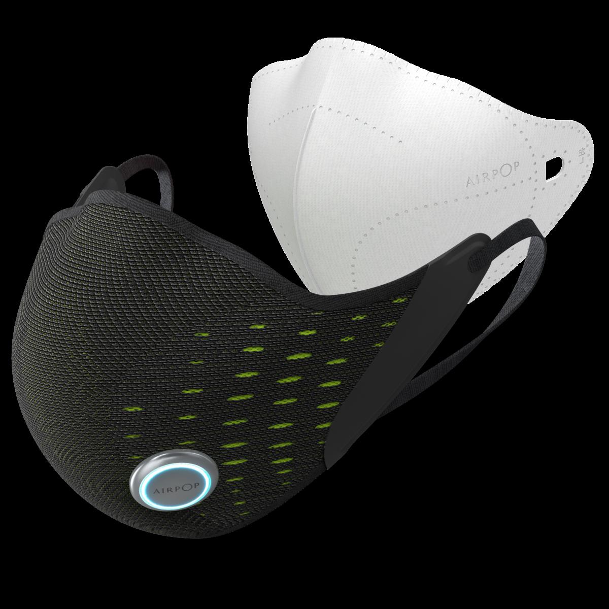 Le masque AirPop Active+ avec son filtre