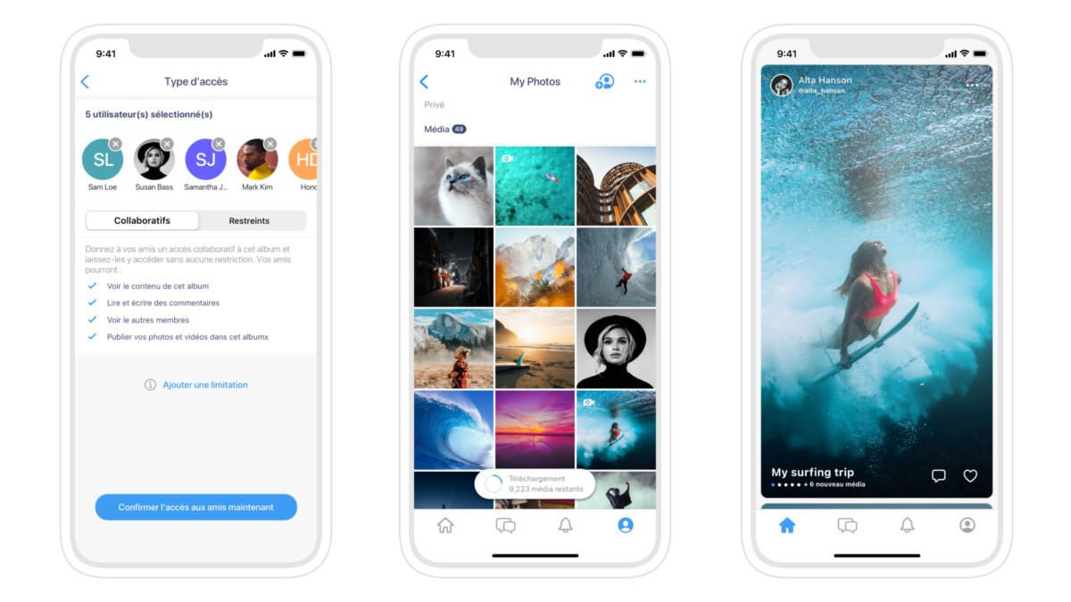 Albums, la nouvelle application sécurisée de partage de photos et vidéos