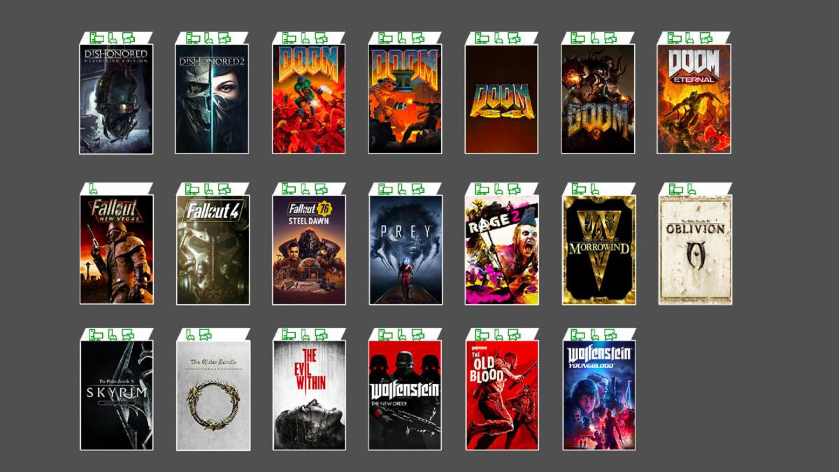 Les plus grandes franchises Bethesda arrivent dans le Xbox Game Pass