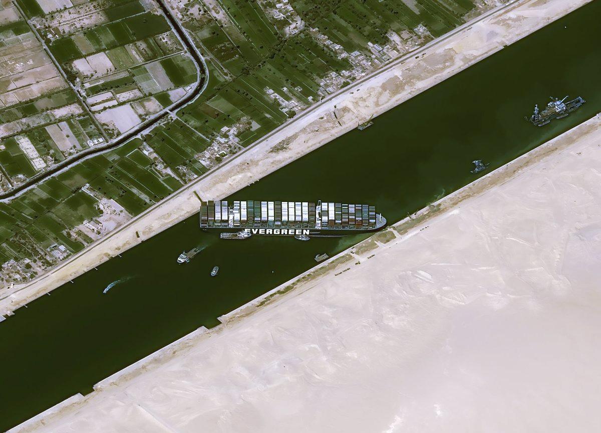 Canal de Suez bloqué