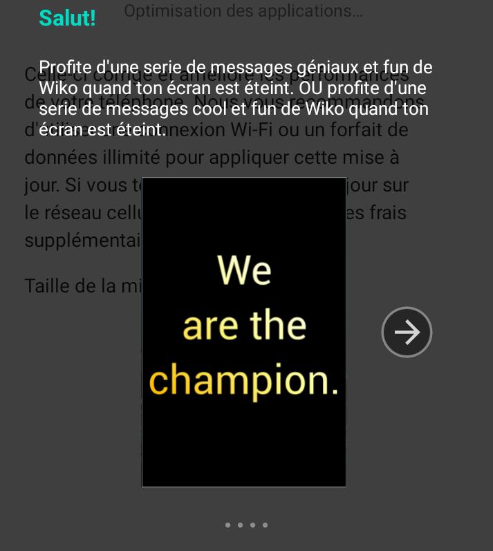 Message étrange sur le Wiko View 5 Plus