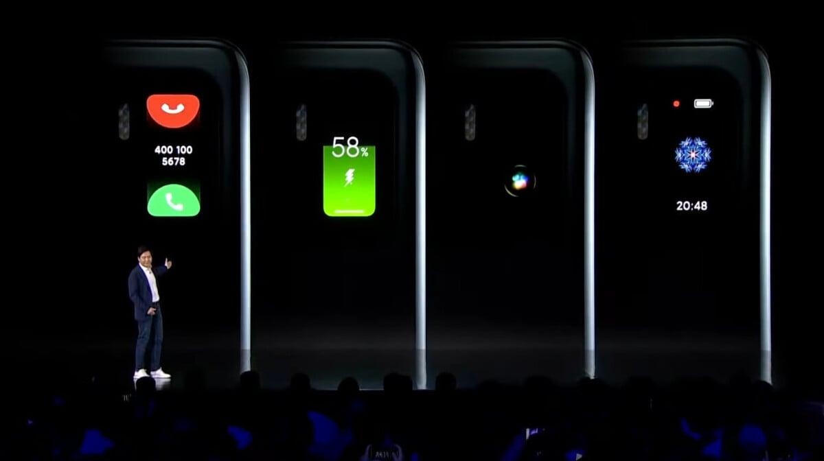L'écran arrière dans le bloc photo du Xiaomi Mi 11 Ultra a eu le droit à un focus lors de sa présentation.