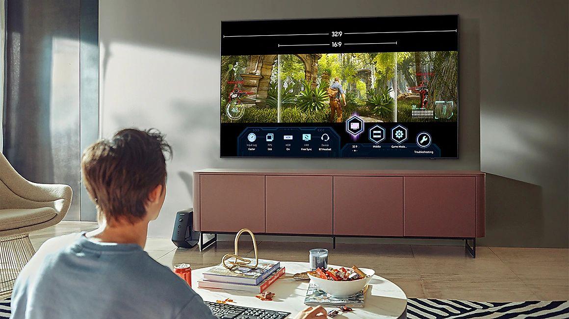 Le mode Super Ultrawide Gameview, vous obtenez des ratios d'affichage extrêmement larges sur votre téléviseur, de 21:9 à 32:9
