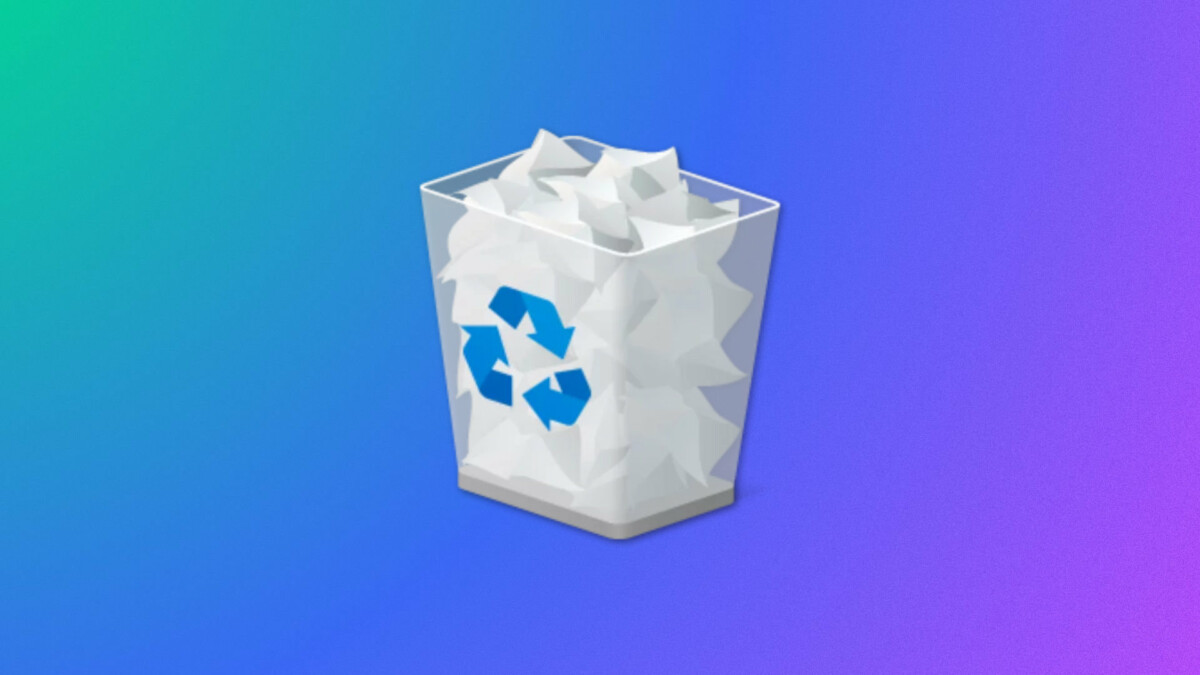 Le logo de la corbeille sur Windows 10