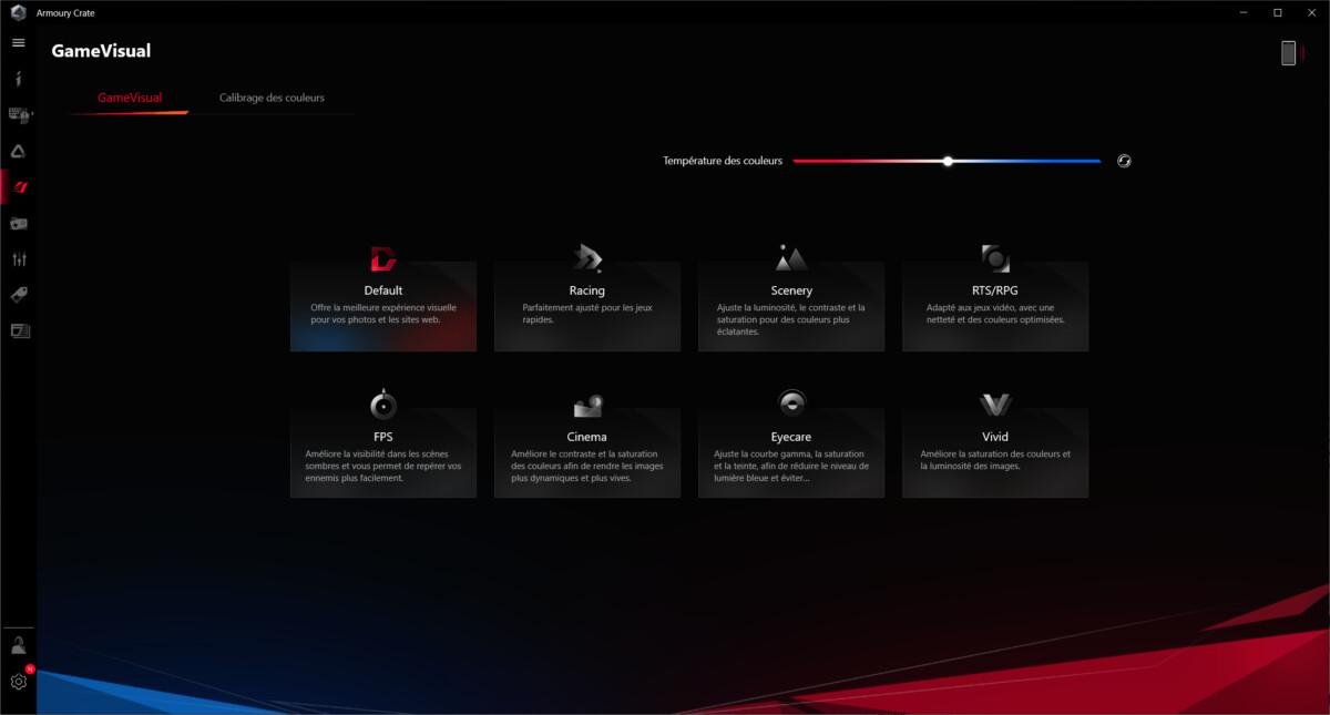 Plusieurs profils que vous pouvez activer directement avec le clavier