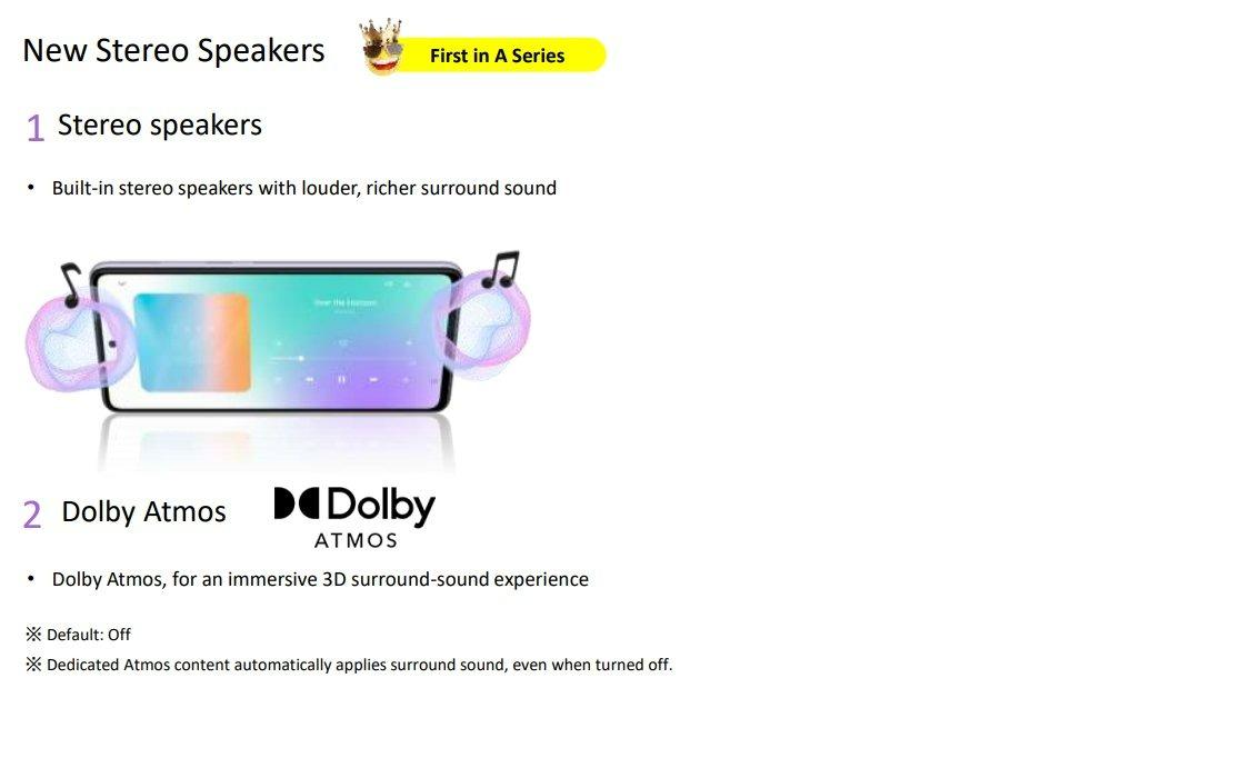 Haut-parleur stéréo sur les Galaxy A52 et A72