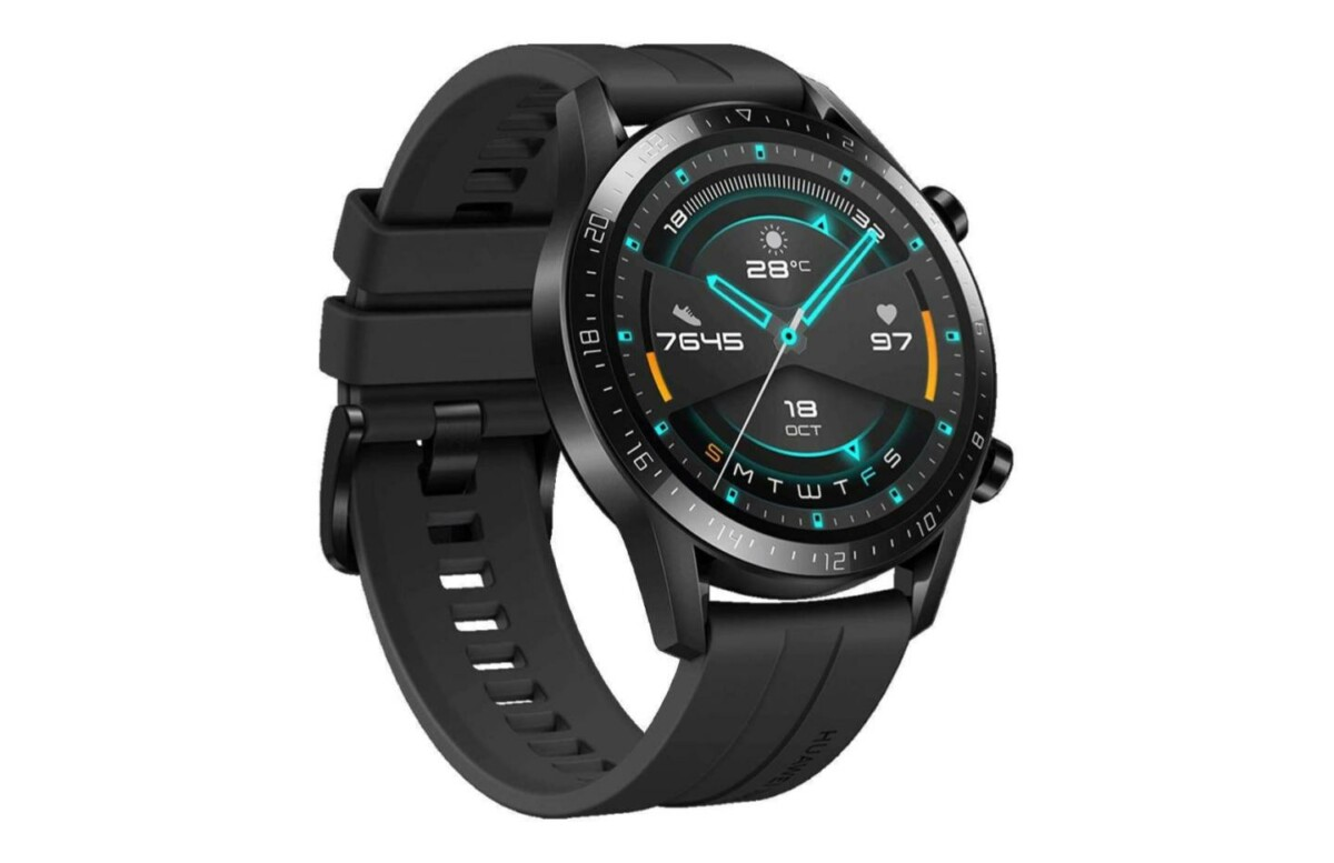 huawei watch gt 2 profil gauche 1200x777 - 105 euros, today is the canon price of the Huawei Watch GT 2 on Amazon - frandroid