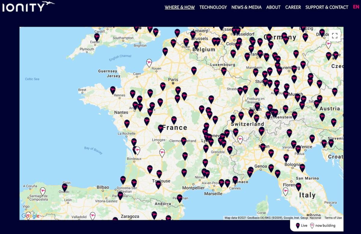 Les stations IONTY en France