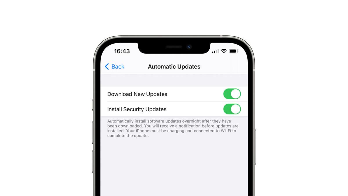 iOS 14.5 pourrait permettre de n'installer que les correctifs de sécurité