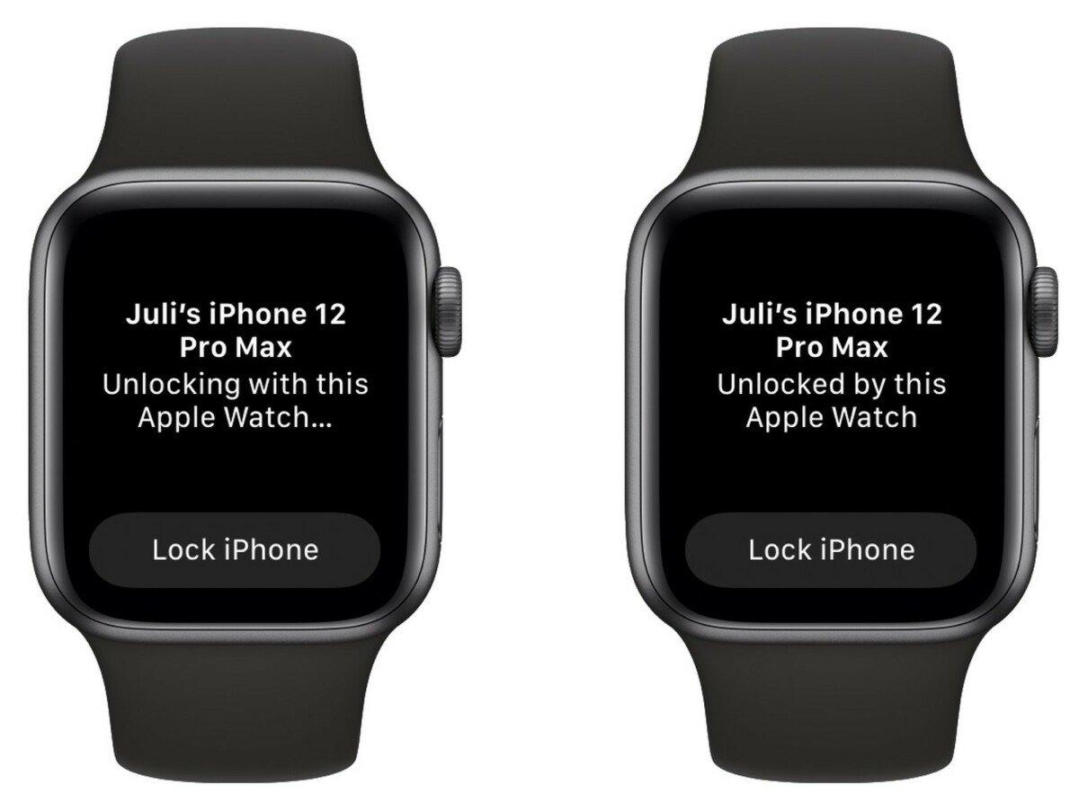 iOS 14.5 - deverrouillage avec Apple Watch