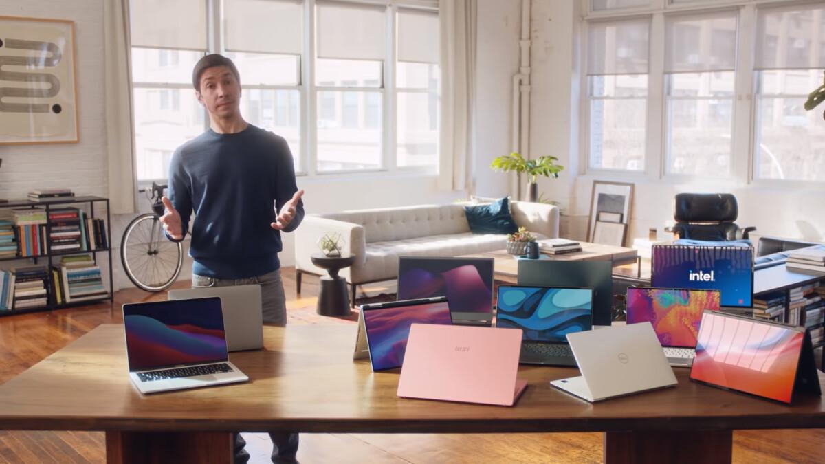 Intel se paye l'acteur de «I'm a Mac» pour se moquer de l'Apple MacBook M1