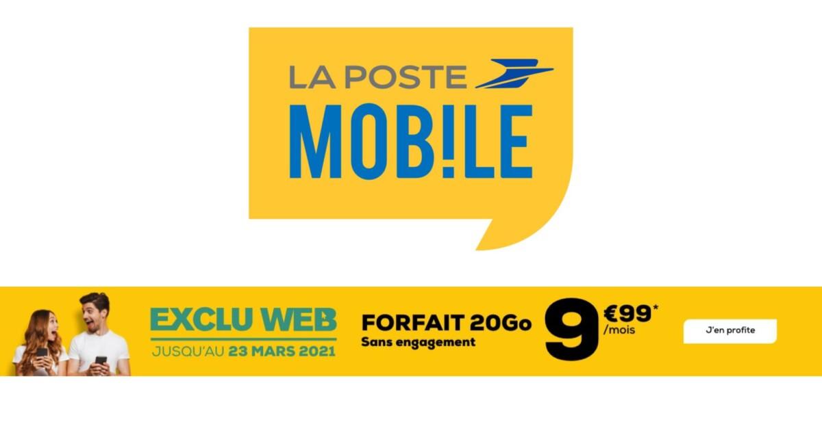 Forfait mobile : 20 Go à seulement 9,99 €/mois via une offre sans engagement
