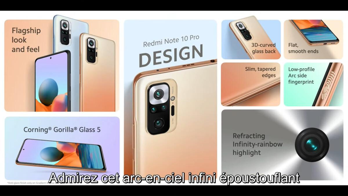 Caractéristiques du Xiaomi Redmi Note 10 Pro