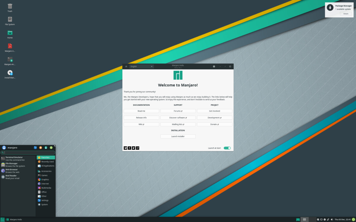 manjaro 1 1200x750 - The GNU / Linux distribution Manjaro announces its arrival on Android but also on ... iPad!