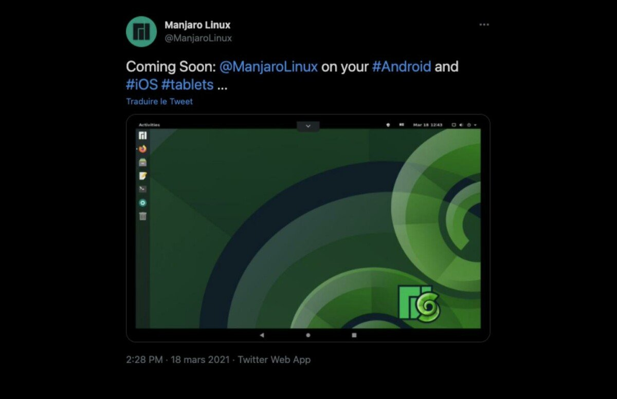 manjaro 1200x777 - The GNU / Linux distribution Manjaro announces its arrival on Android but also on ... iPad!