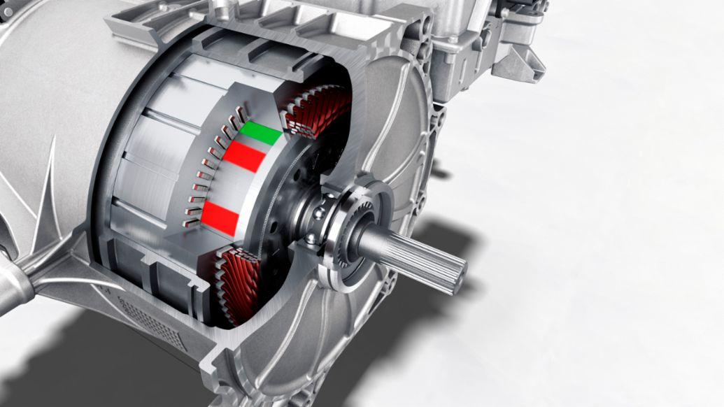 Un moteur de Porsche Taycan