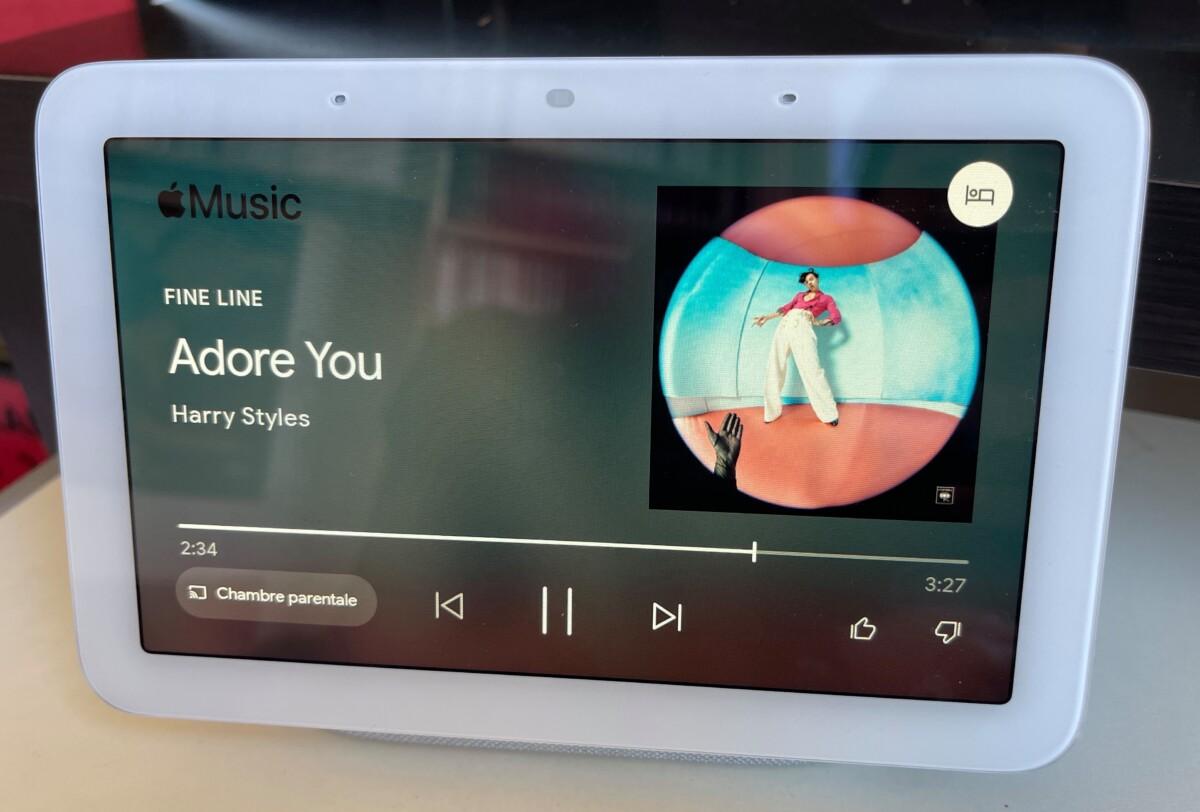 Apple Music sur le Google Nest Hub 2e génération