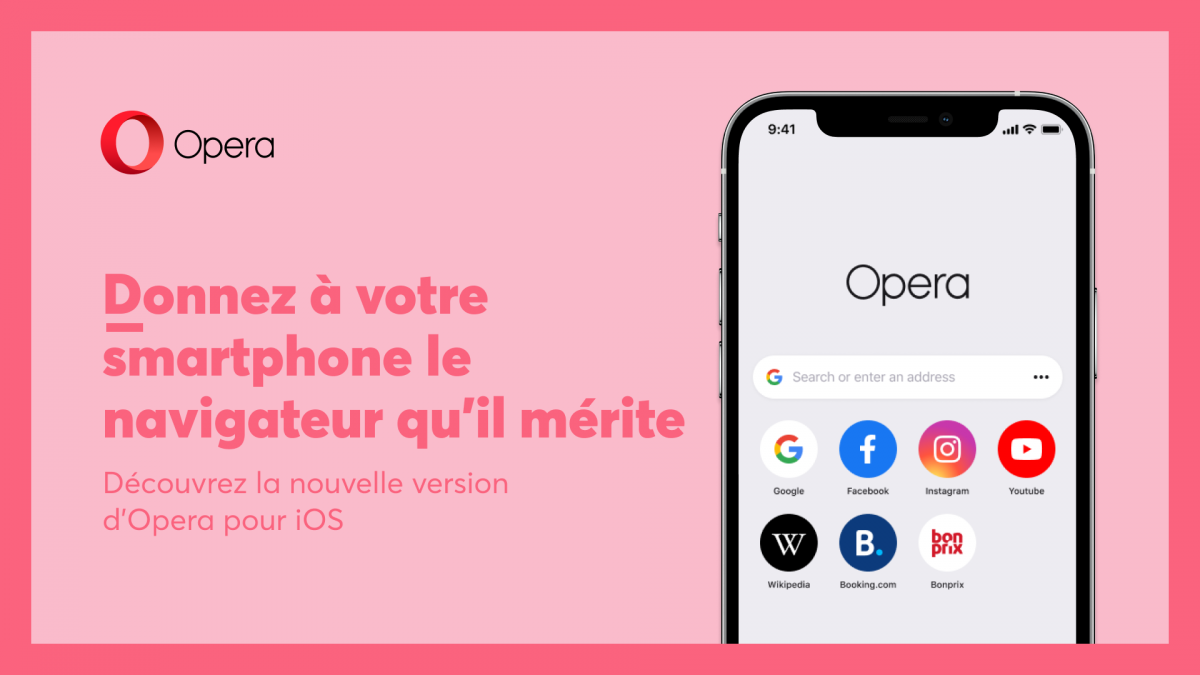 opera ios 1 - Opera simplifies its name and look on iPhone - Frandroid