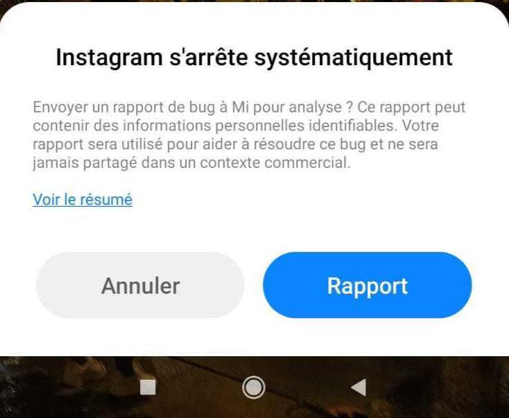 Panne Instagram