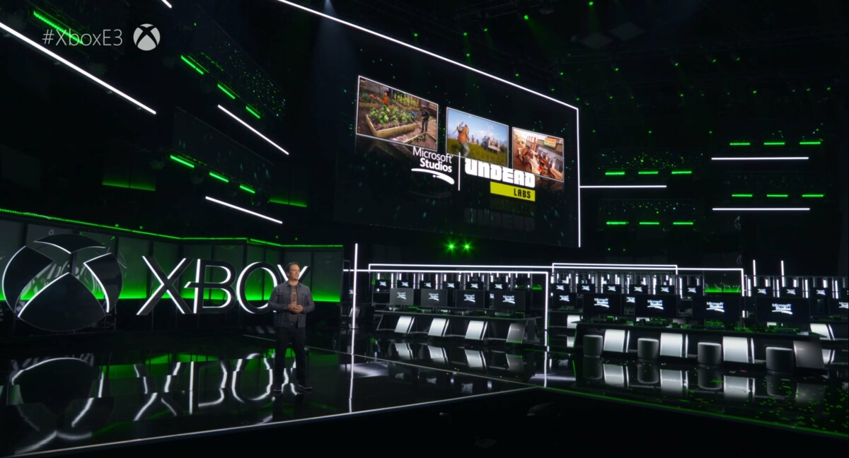 Phil Spencer à la conférence XboxE3 2018, annonçant le rachat de Undead Labs