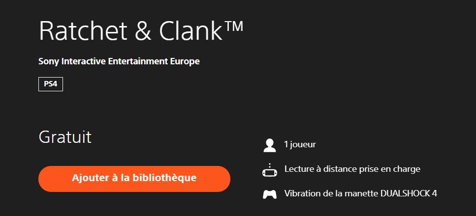 Ratchet & Clank est totalement gratuit jusqu'au 1er avril