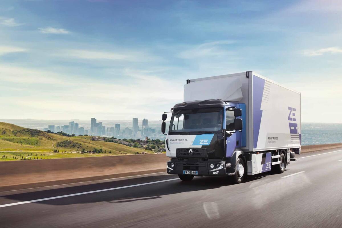 Un camion Renault Zéro Émission