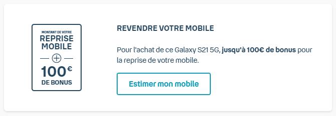 Pendant les Grands Jours, Bouygues Telecom offre un bonus de 100euros sur la reprise de votre ancien smartphone.