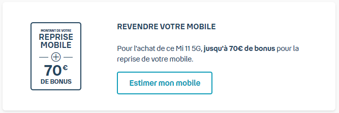 Bouygues Telecom will take back your old smartphone and add 70 euros as a trade-in bonus if you buy a Xiaomi Mi 11.