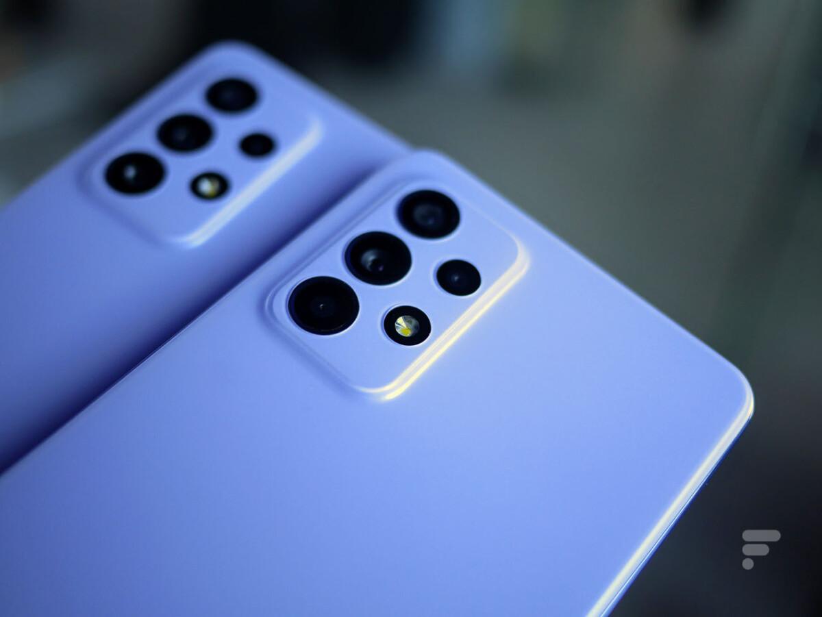 Le module photo sur les Samsung Galaxy A52 et Galaxy A72