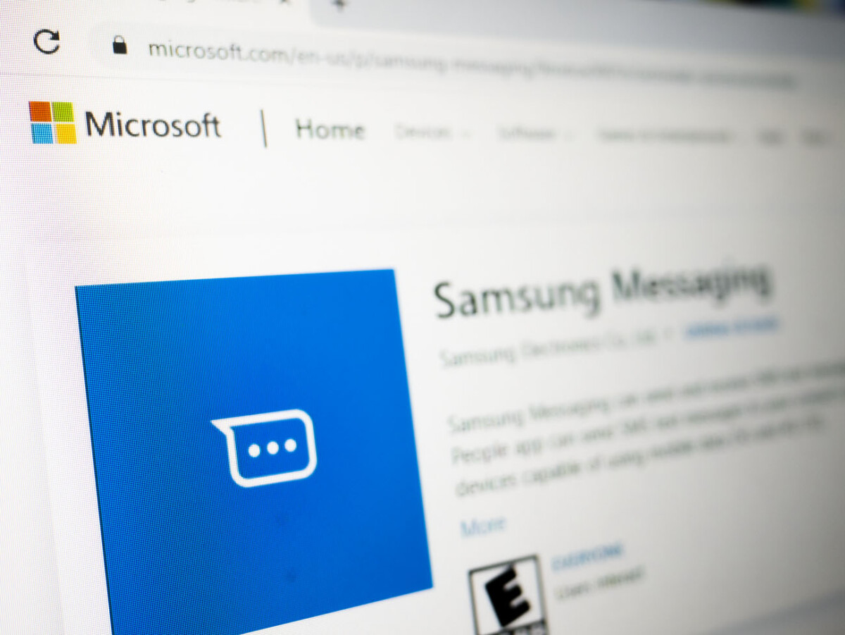 The Samsung Messaging app on the Microsoft Store